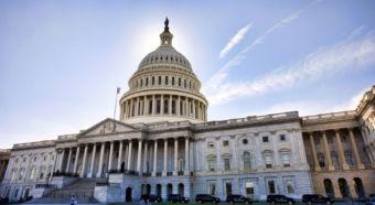 American Capital Building in Washington DC at Dusk