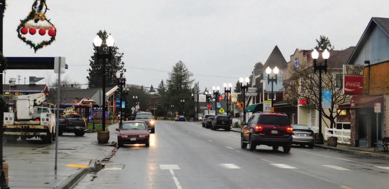 Downtown Eatonville, street view